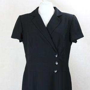 Talbots Petites V-neck Short Sleeve A-Line Dress